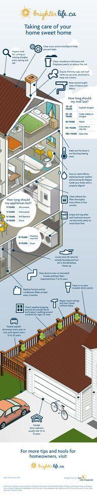 Home Maintenance - Really good info on appliances/longevity.... love it!