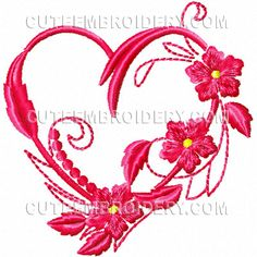 Cute Embroidery has posted this free heart design that you can download today.
