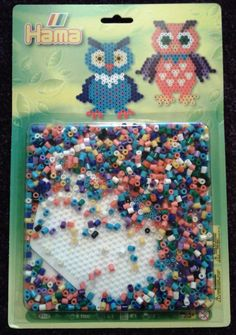 Hama Bead & Board Set Hexagon board  Owl design incl 1100 multi-coloured beads