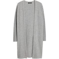 Mango Waterfall Cardigan, Medium Grey ($18) ❤ liked on Polyvore featuring tops, cardigans, jackets, outerwear, mango cardigan, mango tops, cardigan top, waterfall cardigan and short-sleeve cardigan