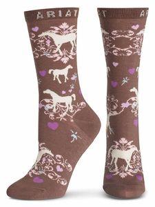 Ariat Women's Horse Lover Crew Socks