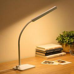 LED Desk Lamp 5-level Dimmer & Color Touch Control Flexible Gooseneck