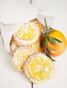 Mandarin Orange Tea Cookies - easy, delicious and pretty. Would make a great…