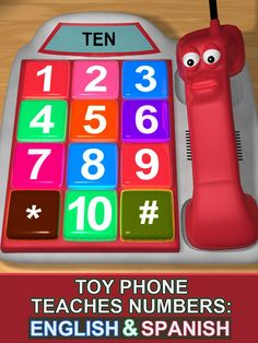 Toy Phone Teaches Numbers: English and Spanish ** Read more at the image link. (This is an affiliate link)
