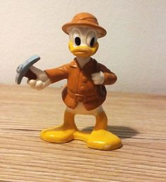 Vintage Disney DONALD DUCK Mountain Climber resin figurine Explorer