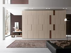 Scenic Enclosed Modern White Polished Wooden Built In Wardrobe With Unique Panels As Decorate Open Living Decors As Inspiring Divider Cabinets Ideas