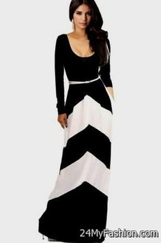 black maxi dresses with sleeves 2017-2018 » B2B Fashion