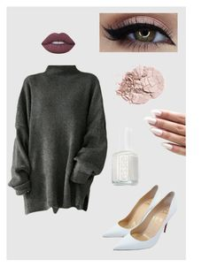 """""""chic pull"""" by nannaef ❤ liked on Polyvore featuring Essie, Christian Louboutin and Lime Crime"""