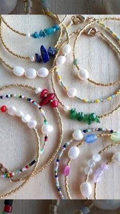 Crystal Jewelry, Beaded Jewelry, Pearl Jewelry, Handmade Jewelry, Beaded Bracelets, Cute Jewelry, Unique Jewelry, Armband Diy, Stacking Bracelets