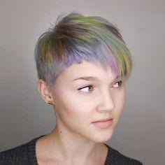 Pastel Pixie With Asymmetrical Bangs