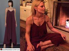 Buy Jennifer Morrison's Burgundy Maxi Dress, here!