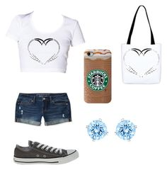 bgmmstore by awesomesauce994 on Polyvore featuring polyvore, fashion, style, Aéropostale, Converse and Swarovski