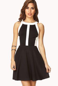 Sleek Contrast Cutout Dress | FOREVER21 - 2000110567 only $29.80