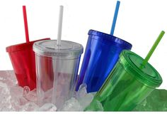 REFRESCO  16 oz double wall acrylic cup with matching color screw-top lid and sip-straw, BPA free.  [ ELRQI-HNHLT ]  96 pcs @ $3.69  1 color 1 location   Contact dan.dour@dbincorporated.com for details