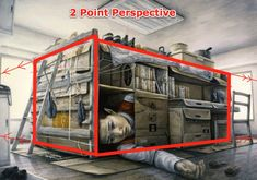 2 Point Perspective Drawing | ... partner click the two point perspective drawing below to get started