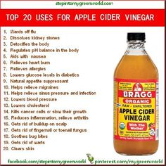 Apple Cider vinegar has so many beneficial uses.