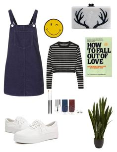 """Tired"" by alicemarianaa on Polyvore featuring Topshop, Edie Parker, She's So, Nearly Natural, Anya Hindmarch, TIBI, Forever 21, women's clothing, women and female"