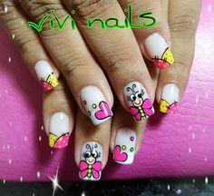 Ruby Nails, Gel Nails, Spring Nail Art, Spring Nails, Short Nail Designs, Nail Art Designs, Love Nails, Pretty Nails, Long Square Nails