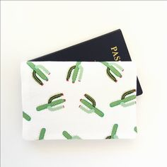 Cactus passport cover, Cacti passport holder, Succulents passport wallet, Holder for 2 passports, Fabric passport case, Girl traveller gift by greylittlemouse on Etsy https://www.etsy.com/listing/499003353/cactus-passport-cover-cacti-passport