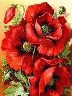 Hot Rainbow Flowers Red Rose Handmade Romantic DIY Diamond Mosaic Pictures For Living Room Diamond Painting Cross Stitch Kits Flowers Draw, Red Flowers, Beautiful Flowers, Painting Flowers, Bright Flowers, Sunflower Paintings, Rainbow Flowers, Fabric Flowers, Arte Floral