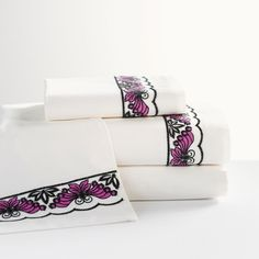 Anna Sui Embroidered Butterfly Sateen Pillowcases, Set of Ivory Multi - Girls Bedding - Sheet Sets Teen Bedding, Bedding Shop, Duvet Bedding, Pottery Barn Kids Backpack, Organic Cotton Sheets, Pottery Barn Teen, Sateen Sheets, Bedding Collections, Sheet Sets