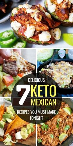 If you're looking for low carb mexican recipes to make for the perfect keto dinner, enjoy these enchilada casserole, stuffed peppers, cauliflower rice, taco shells and more! These keto mexican recipes are absolutely delicious and per Ketogenic Recipes, Low Carb Recipes, Diet Recipes, Cooking Recipes, Healthy Recipes, Cooking Games, Shrimp Recipes, Recipes Dinner, Appetizer Recipes