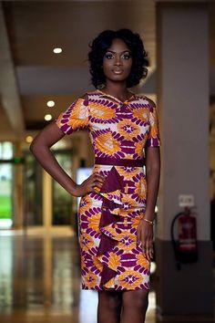 Beautiful orange and purple Ankara dress Beautiful orange and purple Ankara dress African Inspired Fashion, African Print Fashion, Africa Fashion, African Print Dresses, African Fashion Dresses, African Dress, African Attire, African Wear, African Women