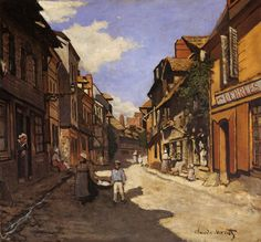 Learn more about Rue De La Bavolle, Honfleur Claude Oscar Monet - oil artwork, painted by one of the most celebrated masters in the history of art. Claude Monet, Impressionist Paintings, Landscape Paintings, Monet Water Lilies, Honfleur, Canvas Online, Art Database, Oil Painting Reproductions, Art Techniques