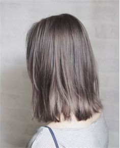 45 Stunning Ash Brown Hair Color Ideas For Summer - Page 21 of 45 - Chic Hostess Ash Brown Hair Color, Ash Hair, Light Brown Hair, Korean Hair Color Ash, Grey Hair Korean, Ash Grey Hair, Brown Hair Balayage, Brown Blonde Hair, Brunette Hair