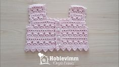 Mode Crochet, Crochet Top, Crochet Videos, Crochet Clothes, Baby Boys, Baby Knitting, Crochet Patterns, Diy Crafts, Pure Products