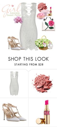 """""""Sweet Lady"""" by poshgirlus ❤ liked on Polyvore featuring Lancôme, Valentino and Yves Saint Laurent"""