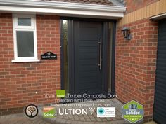 Anthracite Grey Palermo Solid with Side Panels copy Solidor Timber Composite Door