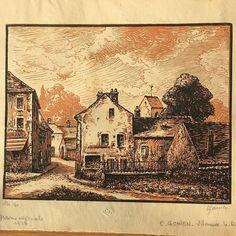 Ernest Gomien engraving, Villeneuve-le-Roi 1927 no. 124/160 signed. (at Hampton Common)