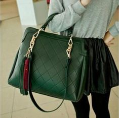 93ff2caf8946 ... bottom directly from China handbag import Suppliers: women messenger  bags leather handbags plaid bags casual vintage bag one shoulder tassel  handbag w
