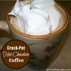 Crock-Pot Hot Chocolate Coffee recipe via the Crock-Pot Ladies
