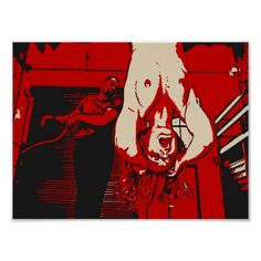 Dark bdsm whipping, bondage art, erotic nude red poster