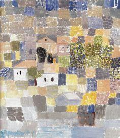 Paul Klee - Sicilian Landscape, 1924 at Barnes Foundation Philadelphia PA by mbell1975.