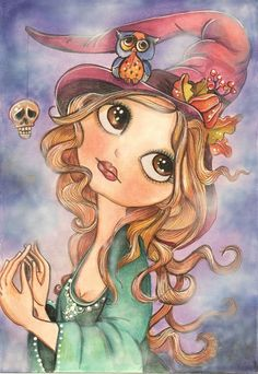 Witch Art Print by Lidia Gennari | Society6