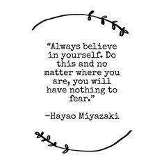 Hayao Miyazaki quote