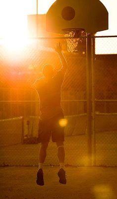 Playing Basketball at Sunset #Basketball #Sports #Personalizedgifts
