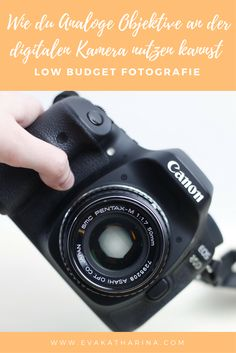 In dieser Low Budget Fotografie Anleitung zeige ich dir, wie du analoge Objektive an deiner digitalen Kamera nutzen kannst.