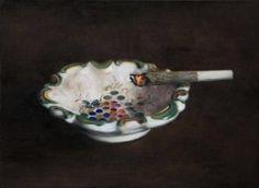 """ Francisco Sierra, Joint nº2, 2014, oil on canvas, 30 × 40 cm """