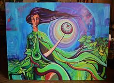 https://flic.kr/p/HnX39X | Madremonte | Acrílico sobre lienzo  Mayo 2016 Medidas: 1,30 x 1,00mt Encargo de Fernando Fanule y Melina Converti en Buenos Aires- Argentina. #acriliconcanvas #pickabelarte #pintura  La madremonte es la guardiana de la selva, reguladora de las lluvias y soles, protectora de las criaturas que se esconden en sus matorrales y portadora de los secretos más luminosos del monte.
