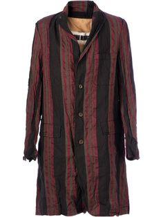 Uma Wang Striped Coat - L'eclaireur - Farfetch.com