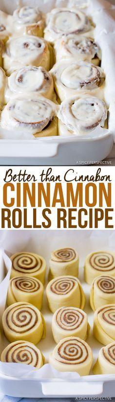 "Decadent ""Better than Cinnabon"" Cinnamon Rolls Recipe | http://ASpicyPerspective.com"