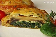 Žampiony Wellington (fotorecept) Spanakopita, Ethnic Recipes, Food, Essen, Meals, Yemek, Eten
