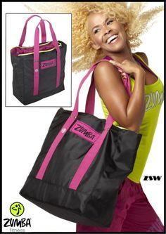 "Zumba JUMBO TOTE BAG -Gym-Travel-Stylish-DURABLE! fr.Convention-21""L x15""H x7""D  #ZUMBAZUMBAFITNESS"