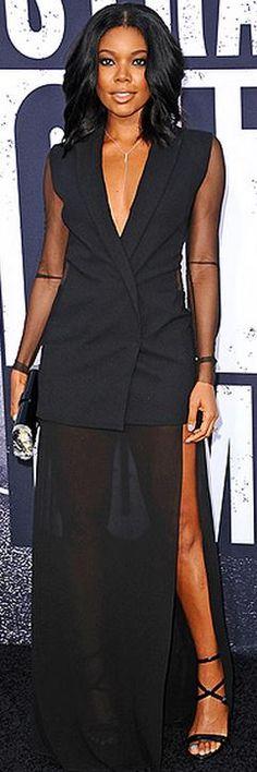 Gabrielle Union: Dress – Akris  Purse – Edie Parker