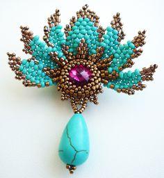 Svetlana Ivanova, Russia. Turquoise brooch.