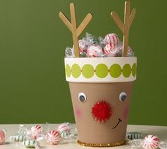 10 Kids Christmas Crafts - Stubbornly Crafty definitly doing this so they can make and give to the grandparents for christmas :)